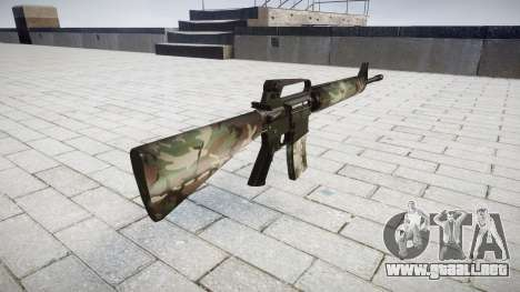 El rifle M16A2 woodland para GTA 4 segundos de pantalla