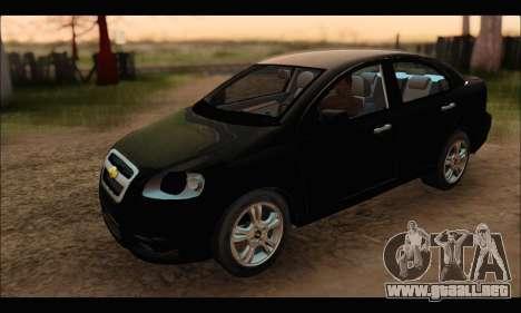Chevrolet Aveo LT 2010 para la visión correcta GTA San Andreas