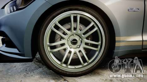 Ford Mustang GT 2015 Custom Kit gray stripes para GTA 4 vista hacia atrás