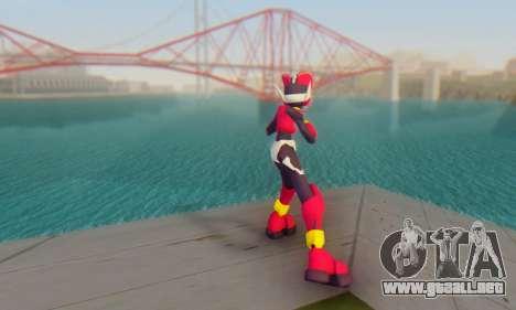 Zero From Megaman X4 para GTA San Andreas tercera pantalla