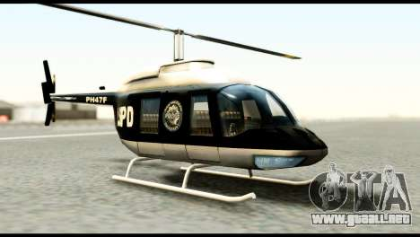 Beta Police Maverick para GTA San Andreas