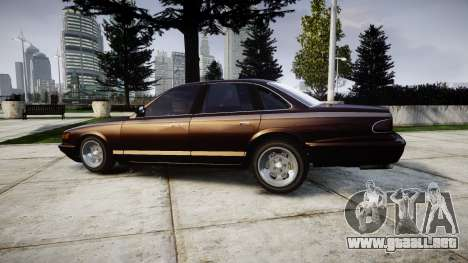 Vapid Stanier Rims II para GTA 4 left
