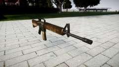 El rifle M16A2 polvo