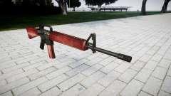 El rifle M16A2 rojo