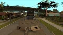 Transporte de tanque de remolque