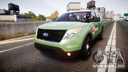 Ford Explorer 2013 Army [ELS] para GTA 4