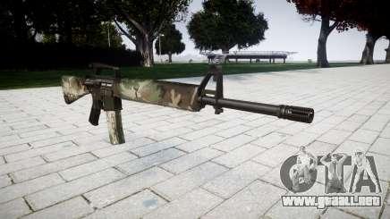 El rifle M16A2 woodland para GTA 4