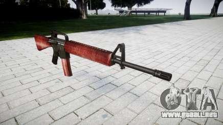 El rifle M16A2 rojo para GTA 4