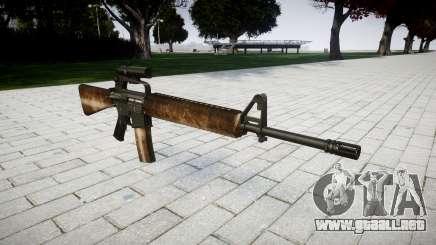 El rifle M16A2 [óptica] polvo para GTA 4