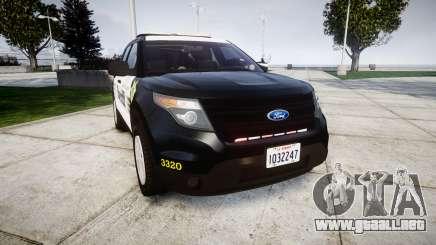 Ford Explorer 2013 County Sheriff [ELS] para GTA 4