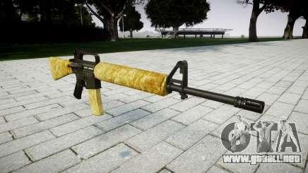 El M16A2 rifle de oro para GTA 4