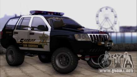 Jeep Grand Cherokee 1999 Sheriff para GTA San Andreas