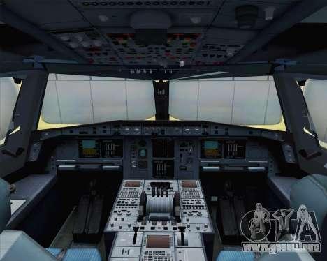 Airbus A380-800 F-WWDD Not Painted para GTA San Andreas vista hacia atrás