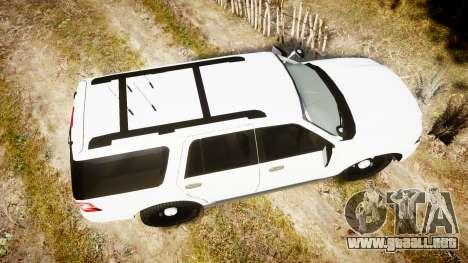 Ford Expedition West Virginia State Police [ELS] para GTA 4 visión correcta