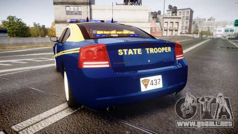 Dodge Charger West Virginia State Police [ELS] para GTA 4 Vista posterior izquierda