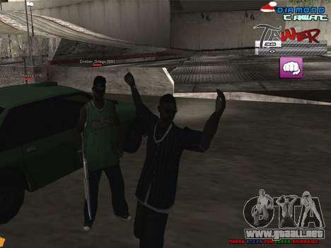 C-HUD TAWER by Vitya para GTA San Andreas segunda pantalla