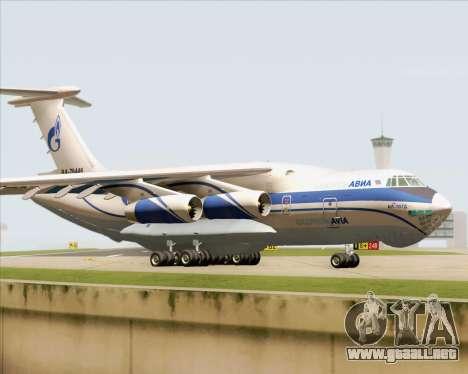 IL-76TD Gazprom Avia para GTA San Andreas left