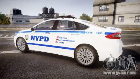 Ford Fusion 2014 NYPD [ELS] para GTA 4 left