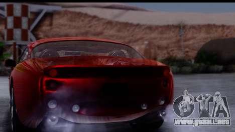TVR Tuscan S 2001 para vista lateral GTA San Andreas
