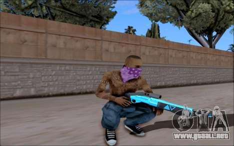 Blueline Gun Pack para GTA San Andreas quinta pantalla