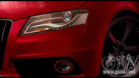 Audi S4 2010 Blacktop para la visión correcta GTA San Andreas