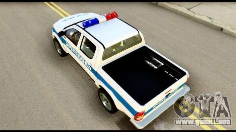 Toyota Hilux Georgia Police para GTA San Andreas vista hacia atrás