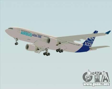 Airbus A330-200 Airbus S A S Livery para la visión correcta GTA San Andreas