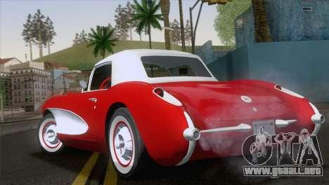 Chevrolet Corvette C1 1957 para GTA San Andreas left