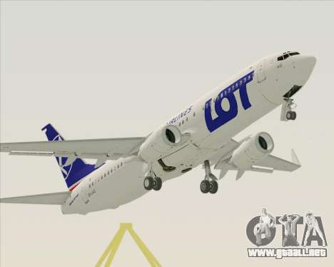Boeing 737-800 LOT Polish Airlines para la vista superior GTA San Andreas