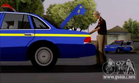 Ford Crown Victoria 1992 State Patrol para GTA San Andreas vista posterior izquierda