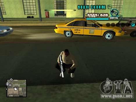 C-HUD Cosmos para GTA San Andreas segunda pantalla