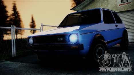 Volkswagen Golf Mk1 GTD para visión interna GTA San Andreas