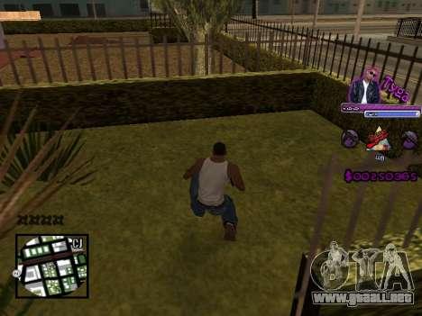 C-HUD by Tyga para GTA San Andreas segunda pantalla