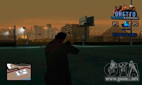 C-HUD Gangster para GTA San Andreas segunda pantalla