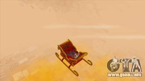 Santa Claus Sleigh para la visión correcta GTA San Andreas