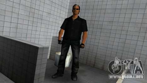 Tommy In Black para GTA Vice City tercera pantalla
