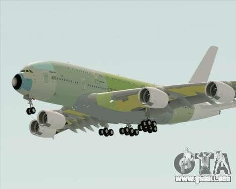 Airbus A380-800 F-WWDD Not Painted para la visión correcta GTA San Andreas