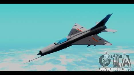 MIG-21 China Air Force para GTA San Andreas vista posterior izquierda