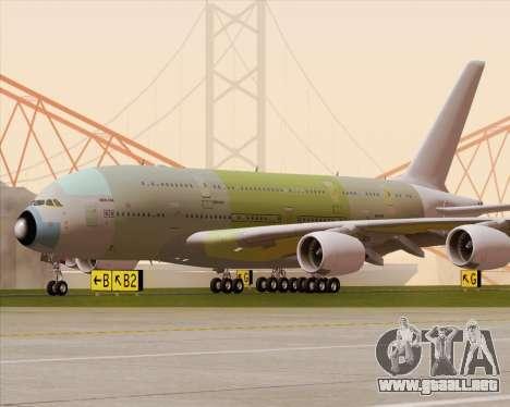Airbus A380-800 F-WWDD Not Painted para la vista superior GTA San Andreas