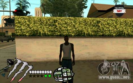 C-HUD Monster Energy para GTA San Andreas tercera pantalla