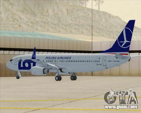 Boeing 737-800 LOT Polish Airlines para GTA San Andreas left