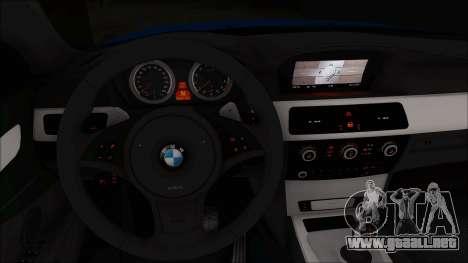 BMW 520i E60 para la visión correcta GTA San Andreas