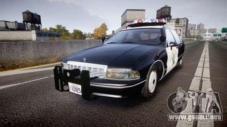 Chevrolet Caprice Highway Patrol [ELS] para GTA 4