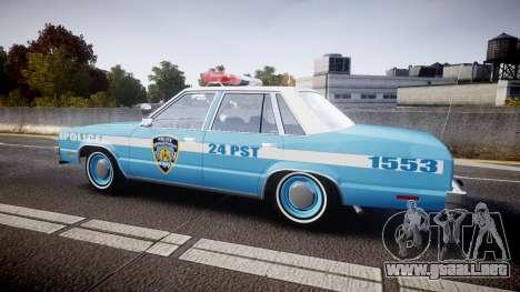 Ford Fairmont 1978 Police v1.1 para GTA 4 left