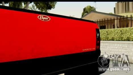 GTA 5 Vapid Sandking SWB para GTA San Andreas vista hacia atrás