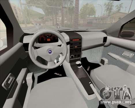 Fiat Siena 2008 para visión interna GTA San Andreas
