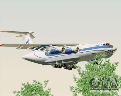 IL-76TD Gazprom Avia para GTA San Andreas vista posterior izquierda