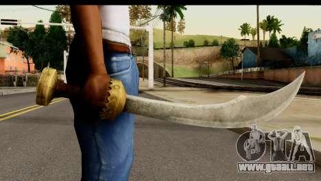 Scimitar Sword From Skyrim para GTA San Andreas tercera pantalla