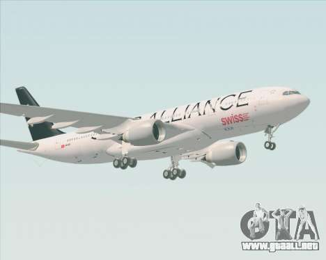 Airbus A330-200 SWISS (Star Alliance Livery) para GTA San Andreas left