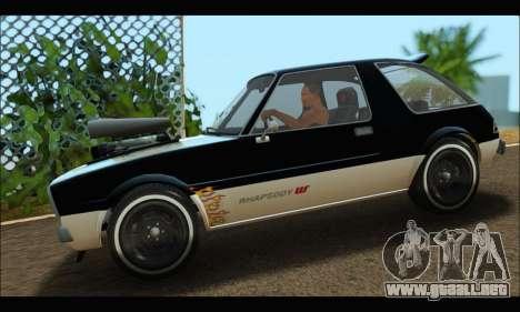 Declasse Rhapsody (GTA V) (SA Mobile) para GTA San Andreas left